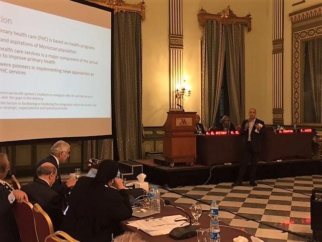 Dr Safwane Mouwafaq (PA EISP), présentant les résultats de la recherche EISP, Caire, 11 Novembre 2017.