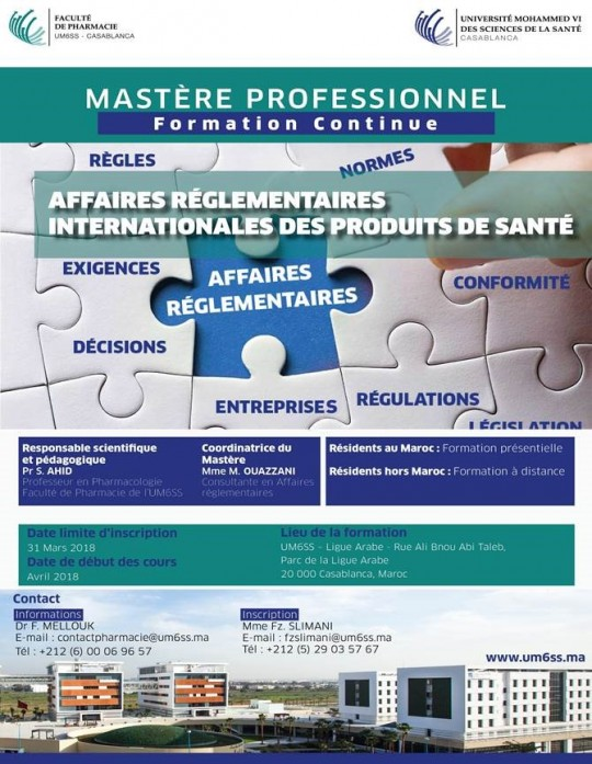Affiche Mastere ARIPS